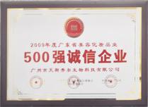 德昌荣获500强诚信企业证书